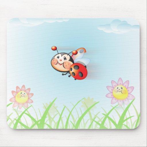 Libby the Ladybug Flying Mousepad