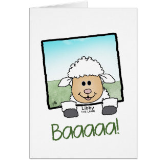 Libby the Lamb (Pathway Pet) Card