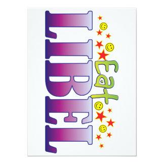 Libel Eat 5.5x7.5 Paper Invitation Card