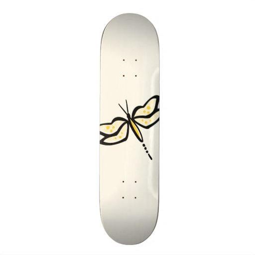 Libélula ambarina amarilla tablas de skate