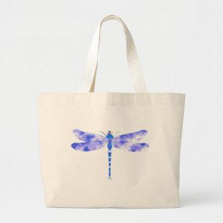 Libélula azul bolsas de mano
