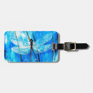 Libélula azul etiquetas bolsas