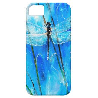 Libélula azul iPhone 5 cárcasas
