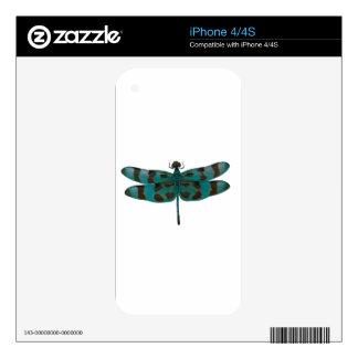 Libélula azul skin para el iPhone 4S