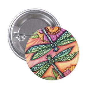 libélula - botón pin redondo de 1 pulgada