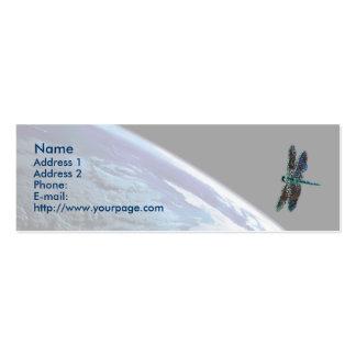 Libélula cósmica, plantilla tarjetas de visita mini