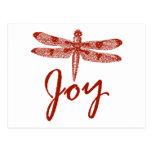 Libélula de la alegría del día de fiesta postales