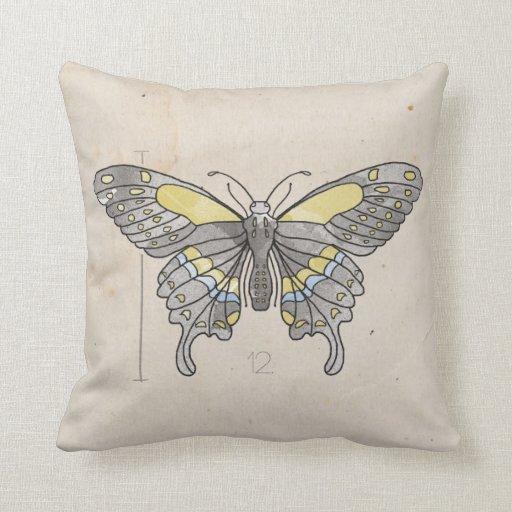 Libélula de las series de los insectos + Mariposa Cojín