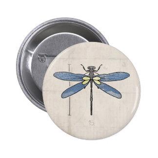 Libélula de las series de los insectos por VOL25 Pin Redondo De 2 Pulgadas