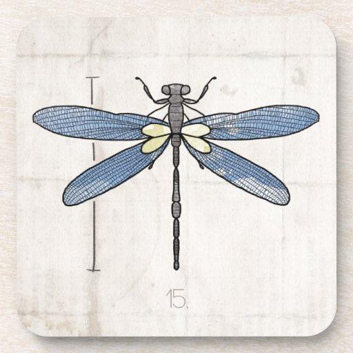 Libélula de las series de los insectos por VOL25 Posavasos De Bebidas