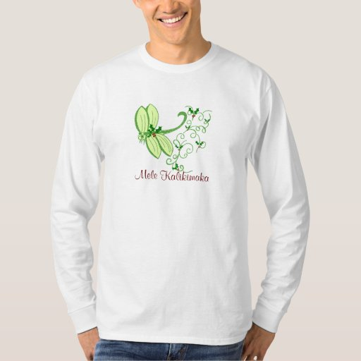 Libélula del acebo, camiseta de Mele Kalikimaka Playeras