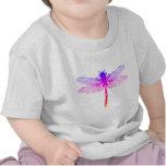 Libélula del arco iris camisetas