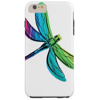 Libélula del arco iris funda de iPhone 6 plus tough