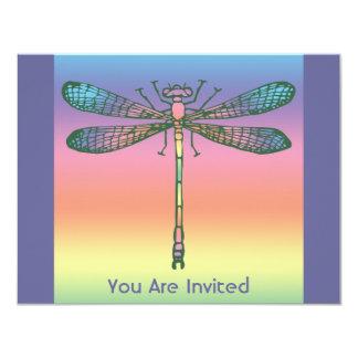 """Libélula del arco iris invitación 4.25"""" x 5.5"""""""