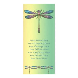Libélula del arco iris tarjeta publicitaria personalizada