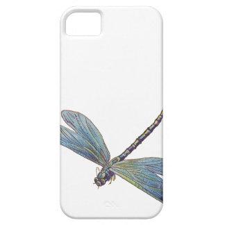 Libélula del azul del vintage iPhone 5 Case-Mate protectores