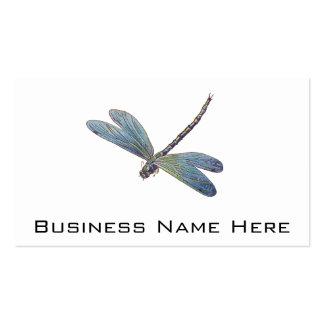 Libélula del azul del vintage tarjetas de visita
