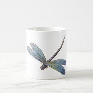 Libélula del azul del vintage tazas de café