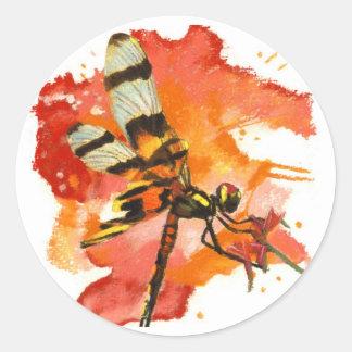 Libélula del banderín de Halloween Pegatinas Redondas
