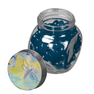 Libélula del verano jarras de cristal