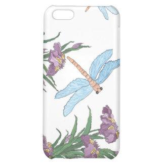 Libélula e iris azules