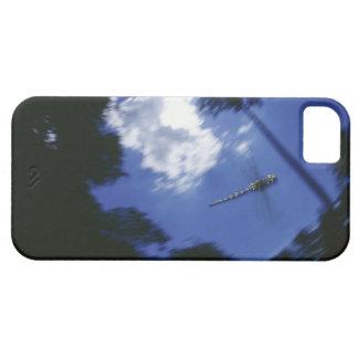 Libélula en vuelo, agitando las alas iPhone 5 carcasa