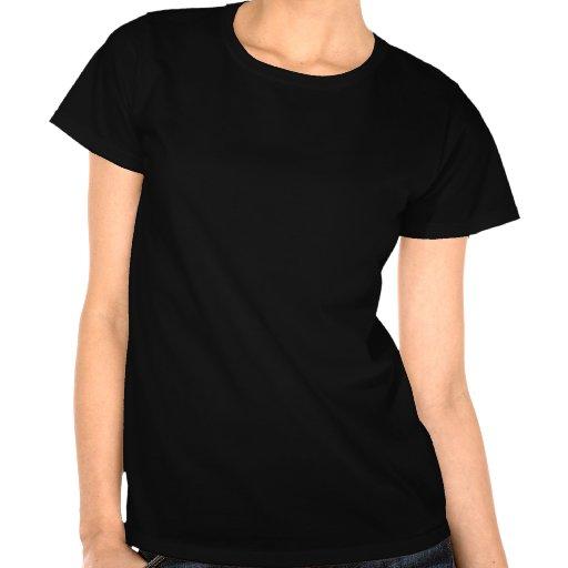 Libélula enrrollada del fractal del arco iris camisetas