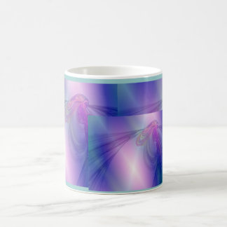Libélula iluminada taza