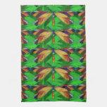 Libélula, insecto de los Arty, libélula colorida Toallas De Mano