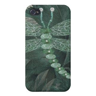 Libélula Jeweled iPhone 4 Fundas