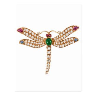 Libélula Jeweled Tarjetas Postales