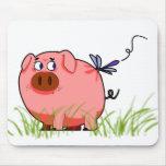 Libélula Mousepad del cerdo Alfombrillas De Raton
