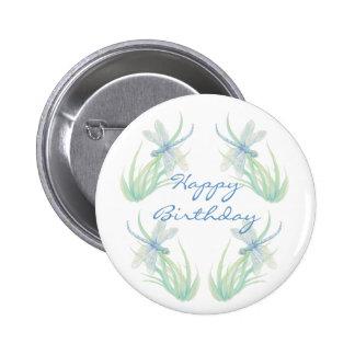 Libélula original de la acuarela del cumpleaños en pins