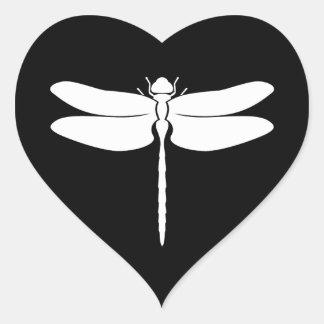 Libélula Pegatina En Forma De Corazón