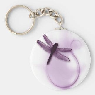 Libélula púrpura llavero