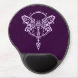 Libélula púrpura que remolina alfombrillas de raton con gel