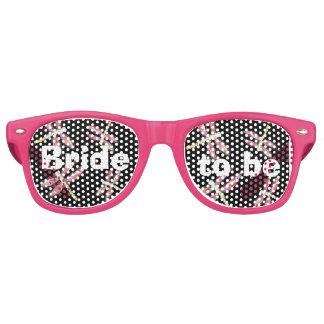 Libélula rosada de baile lentes de fiesta