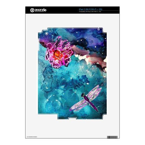 Libélula sobre el agua con la pintura del arte de  skin para el iPad 2