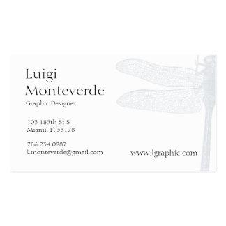 Libélula tarjeta de visita personal única