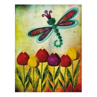 libélula tarjetas postales