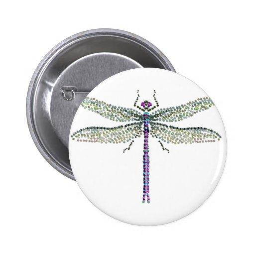 libélula Transparant Pin