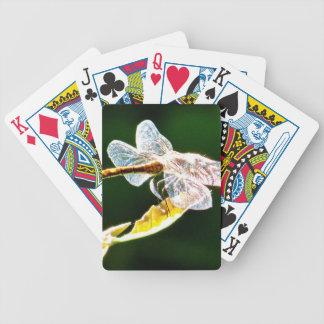 Libélula transparente baraja cartas de poker