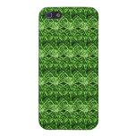 Libélula verde abstracta iPhone 5 cobertura