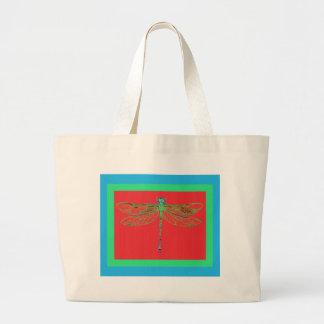 Libélula verde - regalos rojos del colorete por Sh Bolsa