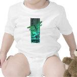 Libélula y rana verdes en la charca trajes de bebé