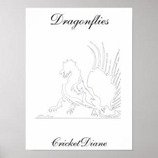 Libélulas - animal de CricketDiane Ribonn Posters