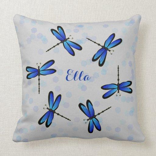 libélulas azules cojines
