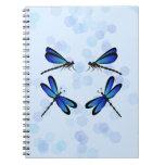 libélulas azules libros de apuntes con espiral