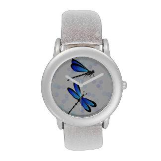 libélulas azules relojes de mano
