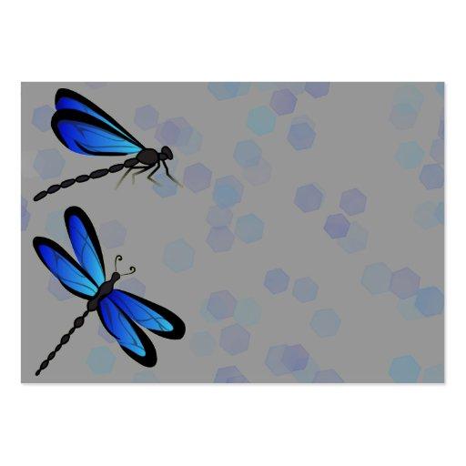 libélulas azules tarjetas de visita grandes